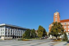 Παλαιά οικοδόμηση του Δημαρχείου στο κέντρο Pleven, Βουλγαρία Στοκ Εικόνα