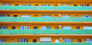 Παλαιά οικοδόμηση apartaments που γίνεται στη δεκαετία του '70 Στοκ Εικόνες
