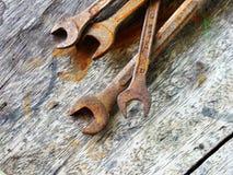 παλαιά οξυδωμένα εργαλεία Στοκ Φωτογραφίες
