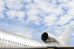 Παλαιά οπίσθια πλάγια όψη αεροπλάνων Στοκ εικόνα με δικαίωμα ελεύθερης χρήσης