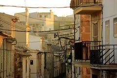 Παλαιά οδός σε Alcudia, Μαγιόρκα, Ισπανία Στοκ φωτογραφία με δικαίωμα ελεύθερης χρήσης