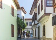 Παλαιά οδός σε Antalya, Τουρκία Στοκ φωτογραφίες με δικαίωμα ελεύθερης χρήσης
