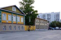 παλαιά οδός σπιτιών Στοκ φωτογραφία με δικαίωμα ελεύθερης χρήσης