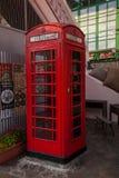Παλαιά οδός του παλαιού τηλεφωνικού θαλάμου στο Χονγκ Κονγκ Στοκ Εικόνες