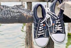 Παλαιά πάνινα παπούτσια Α ύφους Στοκ Φωτογραφία