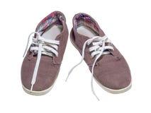 παλαιά πάνινα παπούτσια Στοκ εικόνες με δικαίωμα ελεύθερης χρήσης