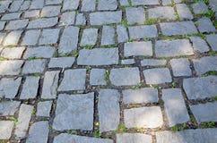 παλαιά πέτρα πεζοδρομίων Στοκ Φωτογραφίες