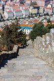 παλαιά πέτρα σκαλών σειράς της Ιταλίας Κάστρο Αγίου Georges Στοκ Φωτογραφίες