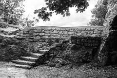παλαιά πέτρα σκαλών Στοκ Φωτογραφία