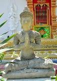 Παλαιά πέτρα του Βούδα τέχνης Στοκ Φωτογραφίες