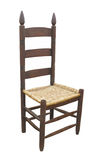 Παλαιά πίσω καρέκλα σκαλών που απομονώνεται Στοκ Εικόνες