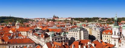 παλαιά πανοραμική όψη της Πράγας Στοκ Εικόνα