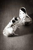 Παλαιά παπούτσια μωρών Στοκ Φωτογραφίες