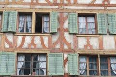 Παλαιά παράθυρα σε Lucern, Ελβετία Στοκ φωτογραφία με δικαίωμα ελεύθερης χρήσης