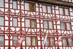 Παλαιά παράθυρα σε Lucern, Ελβετία Στοκ φωτογραφίες με δικαίωμα ελεύθερης χρήσης