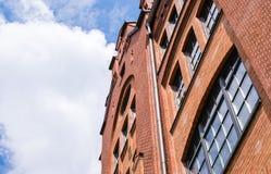 Παλαιά παραδοσιακά κτήρια στο Αμβούργο Στοκ εικόνα με δικαίωμα ελεύθερης χρήσης