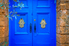 Παλαιά παραδοσιακή πόρτα στη μαροκινή πόλη Essaoira Στοκ Εικόνα
