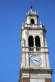 Παλαιά περίληψη arsizio Busto στην Ιταλία ο τοίχος και η εκκλησία Στοκ Φωτογραφίες