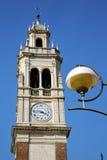 Παλαιά περίληψη arsizio Busto στο λαμπτήρα οδών της Ιταλίας Στοκ Εικόνα