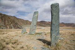 Παλαιά περιοχή ενταφιασμών στη Μογγολία Στοκ φωτογραφία με δικαίωμα ελεύθερης χρήσης