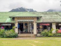 Παλαιά περιοχή σχολικών αγορών Hanalei στοκ εικόνα