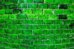 Παλαιά πράσινα κεραμίδια τοίχων Στοκ φωτογραφίες με δικαίωμα ελεύθερης χρήσης