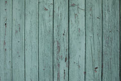 Παλαιά πράσινη χρωματισμένη τυρκουάζ ξύλινη πόρτα Στοκ Εικόνες