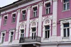 Παλαιά πρόσοψη οικοδόμησης στο τετράγωνο ένωσης Στοκ Φωτογραφία
