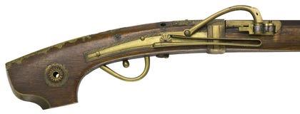 Παλαιά πυροβόλα όπλα τουφεκιών σε ένα άσπρο υπόβαθρο Στοκ Εικόνα