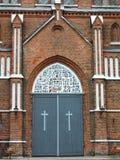Παλαιά πόρτα εκκλησιών, Λιθουανία Στοκ φωτογραφίες με δικαίωμα ελεύθερης χρήσης