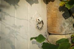 Παλαιά πόρτα με μια λαβή Στοκ Φωτογραφία