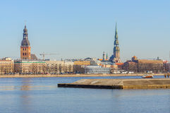 Παλαιά πόλης ακτή της Ρήγας, Λετονία Στοκ Φωτογραφία