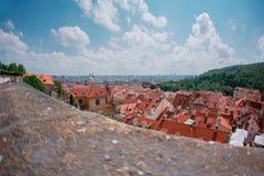Παλαιά πόλης αρχιτεκτονική στην Πράγα, Δημοκρατία της Τσεχίας στοκ εικόνα