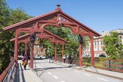 Παλαιά πόλης γέφυρα Τρόντχαιμ Στοκ εικόνες με δικαίωμα ελεύθερης χρήσης