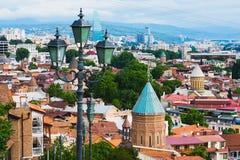 Παλαιά πόλης εικονική παράσταση πόλης του Tbilisi Στοκ εικόνα με δικαίωμα ελεύθερης χρήσης