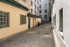 Παλαιά πόλης οδός στη Ζυρίχη Στοκ φωτογραφία με δικαίωμα ελεύθερης χρήσης