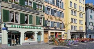 Παλαιά πόλης οδός της Ζυρίχης Στοκ Φωτογραφίες