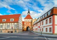 Παλαιά πόλης πύλη σε Stralsund, βόρεια Γερμανία Στοκ φωτογραφία με δικαίωμα ελεύθερης χρήσης