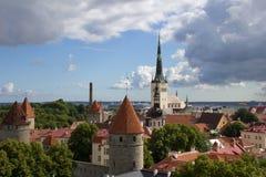 παλαιά πόλης όψη του Ταλίν Στοκ εικόνα με δικαίωμα ελεύθερης χρήσης