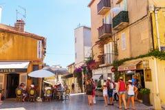 Παλαιά πόλη Αγίου Tropez, Γαλλία Στοκ φωτογραφία με δικαίωμα ελεύθερης χρήσης