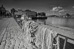 Παλαιά πόλη και σκάφη στο λιμένα σε Honfleur Νορμανδία Γαλλία σε Octobe Στοκ Εικόνες