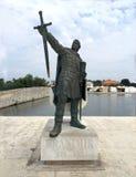 Παλαιά πόλη νησιών της άποψης προκυμαιών της Nin, Δαλματία, Κροατία Στοκ εικόνα με δικαίωμα ελεύθερης χρήσης