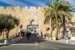 Παλαιά πόλη πυλών κοπριάς της Ιερουσαλήμ στοκ φωτογραφία