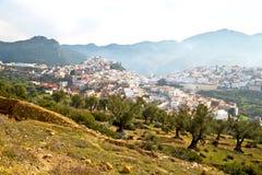 παλαιά πόλη στην κοιλάδα τοπίων εδάφους του Μαρόκου Αφρική Στοκ Φωτογραφία