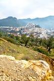 παλαιά πόλη στην κοιλάδα τοπίων του Μαρόκου Αφρική Στοκ Εικόνες