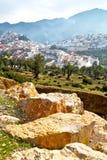 παλαιά πόλη στο Μαρόκο Αφρική και την κοιλάδα τοπίων Στοκ Φωτογραφία