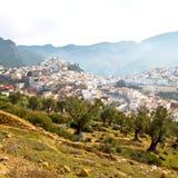 παλαιά πόλη στο σπίτι εδάφους του Μαρόκου Αφρική και κοιλάδα τοπίων Στοκ Φωτογραφία
