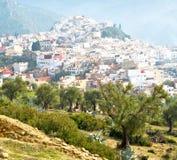παλαιά πόλη στο σπίτι εδάφους του Μαρόκου Αφρική και κοιλάδα τοπίων Στοκ εικόνες με δικαίωμα ελεύθερης χρήσης