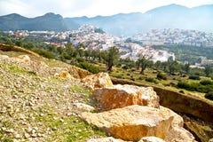 παλαιά πόλη στο τοπίο του Μαρόκου Αφρική στοκ φωτογραφία με δικαίωμα ελεύθερης χρήσης