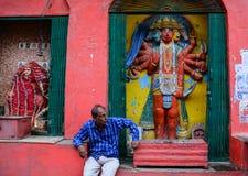 Παλαιά πόλη στο Varanasi, Ινδία Στοκ φωτογραφία με δικαίωμα ελεύθερης χρήσης